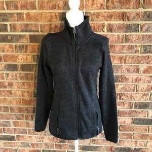 { CHAMPION } Gray Black Athleisure WorkOut Jacket